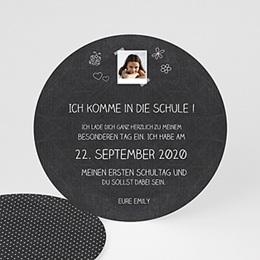 Einladungskarten Einschulung - Schultafel - 0