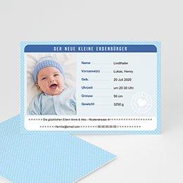 Babykarten für Jungen - Personalausweis Junge - 0