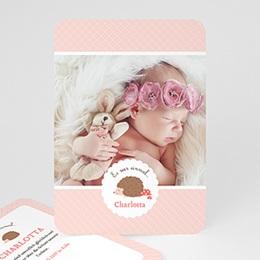 Geburtskarten für Mädchen - Igelin - 0
