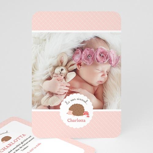 Geburtskarten für Mädchen - Igelin 48647