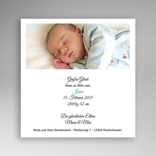 Geburtskarten für Mädchen - Geburtskarte Passepartout 4882
