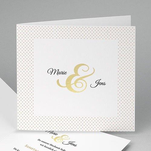 Hochzeitseinladungen modern - Edel und dezent 49019