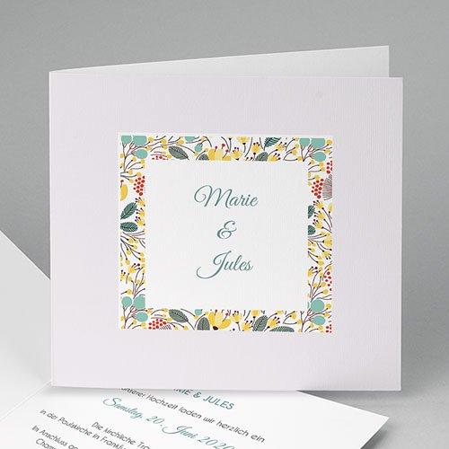 Hochzeitseinladungen modern - Blumen und Blüten 49073