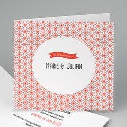 Hochzeitseinladungen modern - Motiv Origami - 0