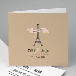 Hochzeitseinladungen modern - Paris Paris - 0