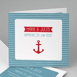 Hochzeitseinladungen modern - Hafen & Anker - 0