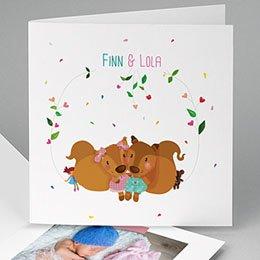 Babykarten für Zwillinge gestalten - Eichhörnchen - 0