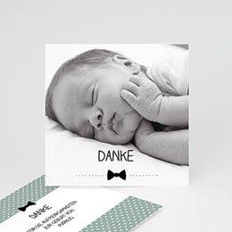 Dankeskarten Geburt Jungen - Fliege im Trend - 0