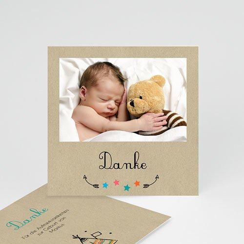 Dankeskarten Geburt Jungen - Indianerzelt 49397