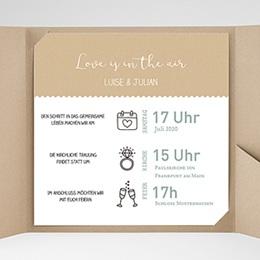 Hochzeitskarten Quadratisch - Natur Graphik - 0
