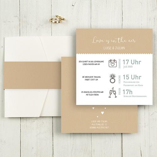 Hochzeitskarten Quadratisch - Natur Graphik 49593