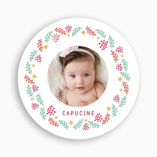 Dankeskarten Geburt Mädchen - Krone 49651