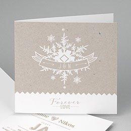 Hochzeitseinladungen modern - Winter - 0
