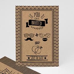Hochzeitseinladungen modern - Hipster Wedding - 0