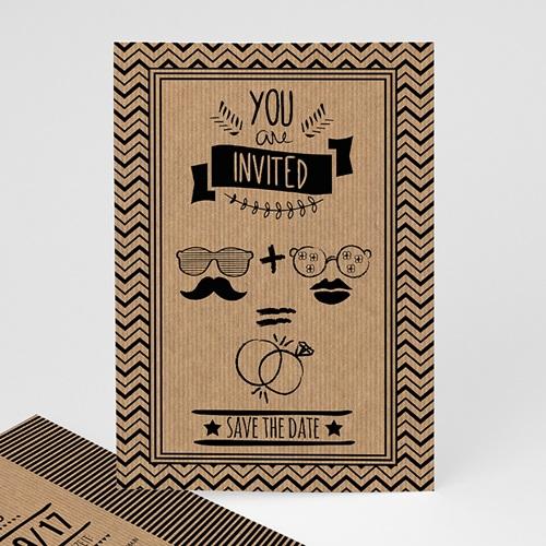 Hochzeitseinladungen modern - Hipster Wedding 49758
