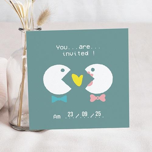 Hochzeitseinladungen modern - Geek Love 49776