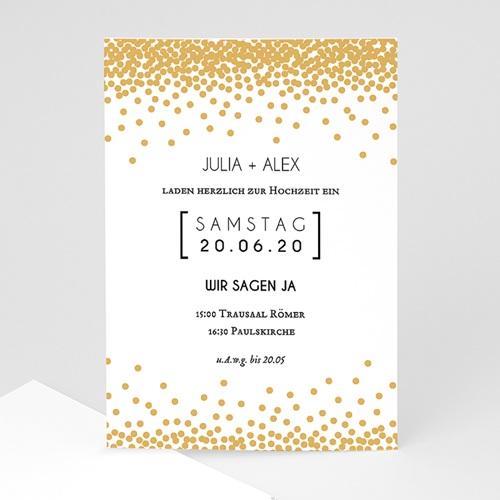 Hochzeitseinladungen modern - Funkelkndes Gold 49792