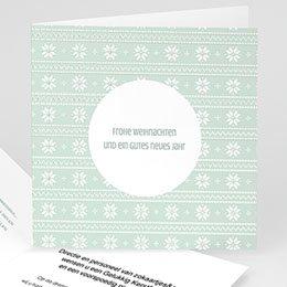 Weihnachtskarten - Winter Pattern - 0