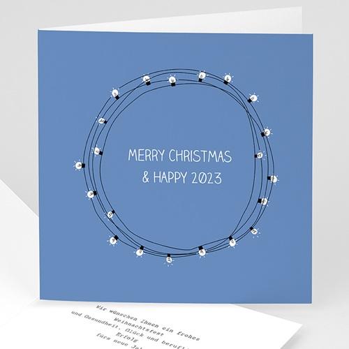 Weihnachtskarten - Lichterkette 49949