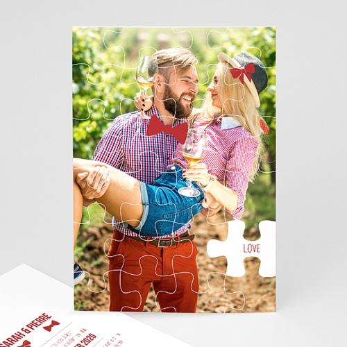 Hochzeitseinladungen modern - Puzzle 50015