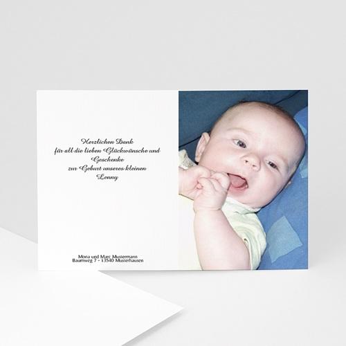 Dankeskarten Geburt Mädchen - Baby sagt Danke 5008