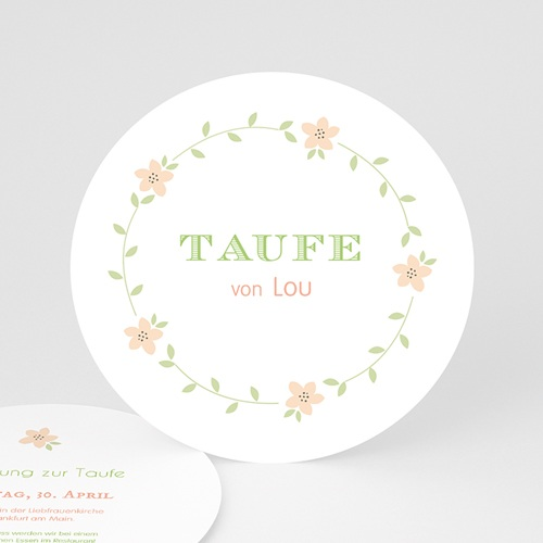 Einladungskarten Taufe Mädchen - Blütentaufe 50146