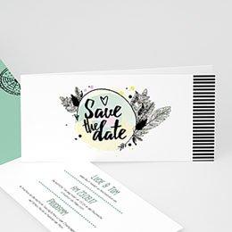 Hochzeitseinladungen modern - Boho-Style - 0