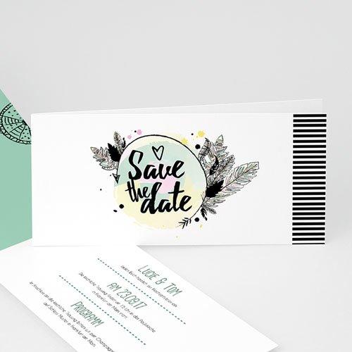 Hochzeitseinladungen modern - Boho-Style 50187