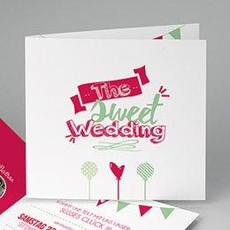 Hochzeitseinladungen modern - Candy Hochzeit - 0