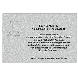 Trauer Danksagung christlich - In alle Ewigkeit - 1