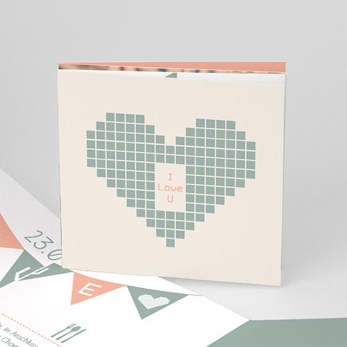 Hochzeitseinladungen modern - Electronic Love 50238