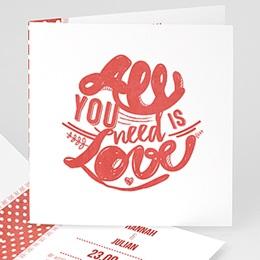 Hochzeitseinladungen modern - Rot & Weiß - 0