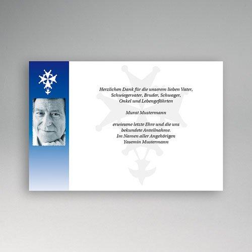 Trauer Danksagung christlich - Trauerkarte 1 5027