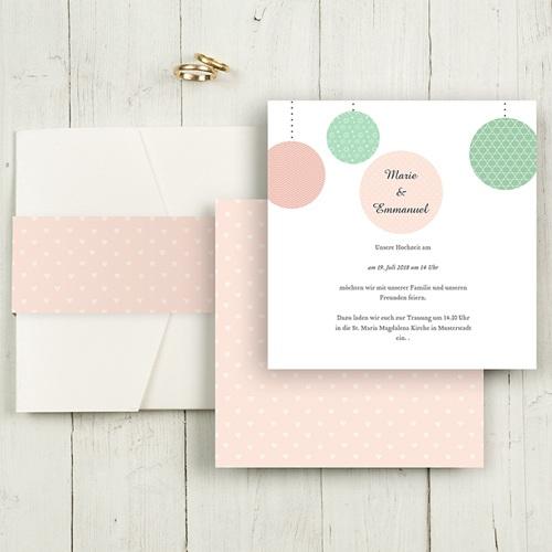 Hochzeitskarten Quadratisch - Pünktchen 50325