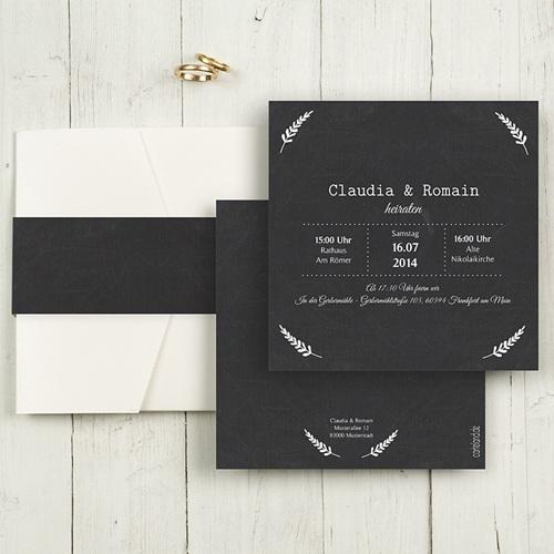 Hochzeitskarten Quadratisch - Tafelstil chic 50357