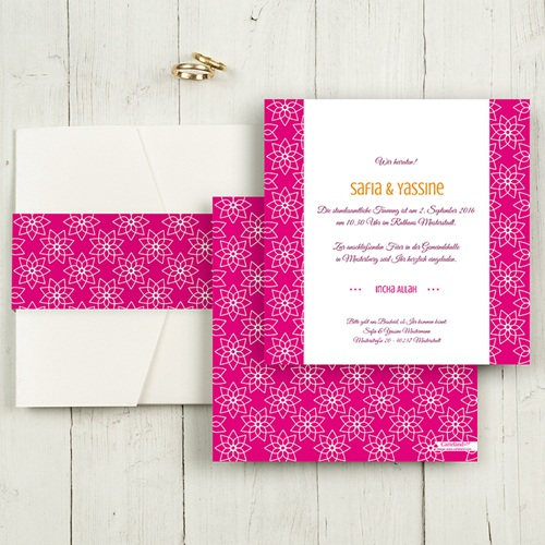 Hochzeitskarten Quadratisch - Tamana 50367