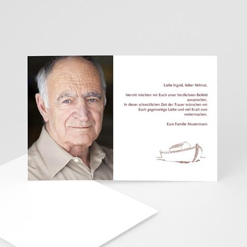 Trauer Danksagung weltlich - Trauerkarte 11 5039