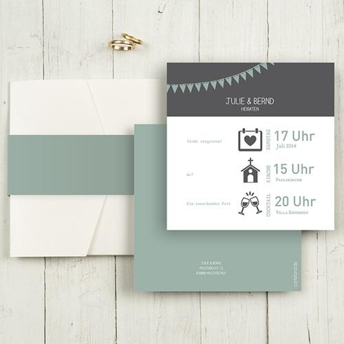 Hochzeitskarten Quadratisch - Festive 50391