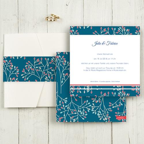 Hochzeitskarten Quadratisch - Aubusson Stil 50399