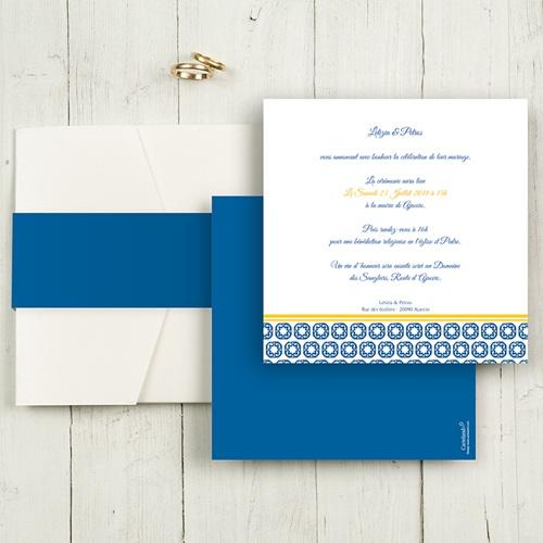 Hochzeitskarten Quadratisch - Design Lissabon 50413