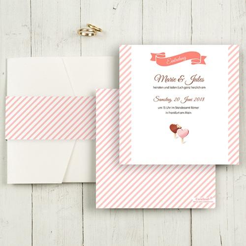 Hochzeitskarten Quadratisch - Gourmandise 50415