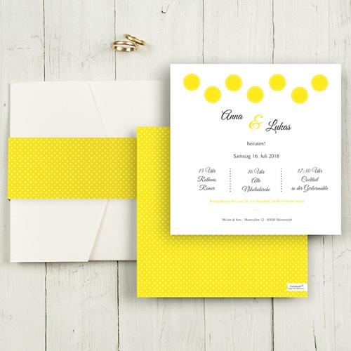 Hochzeitskarten Quadratisch - Inspiration Zitrone 50423