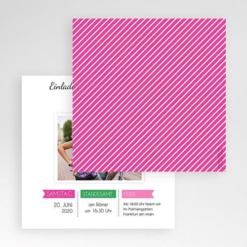 Hochzeitskarten Quadratisch - Pop Charme 50428