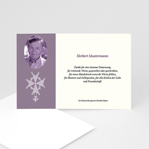 Trauer Danksagung christlich - Trauerkarte 10 5043