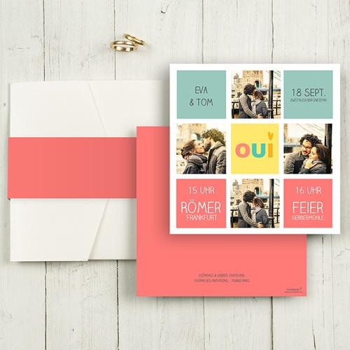 Hochzeitskarten Quadratisch - Gute Laune 50434
