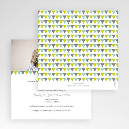 Hochzeitskarten Quadratisch - Vintage Charme 50439