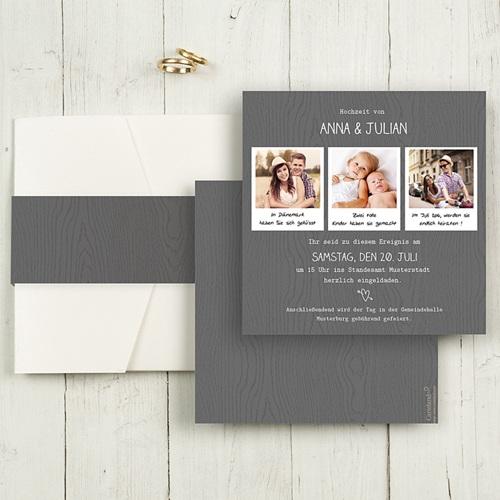 Hochzeitskarten Quadratisch - Fotoroman 50444