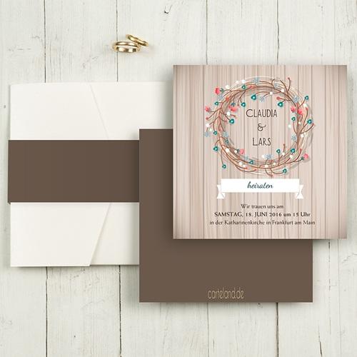 Hochzeitskarten Quadratisch - Landhochzeit 50446