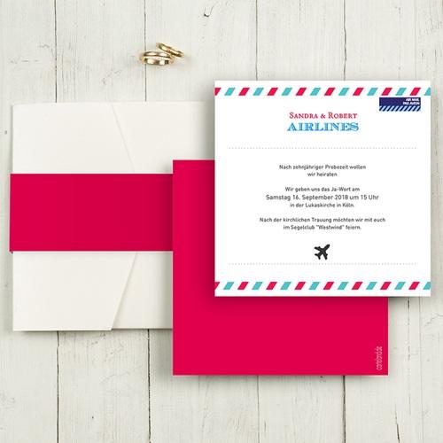 Hochzeitskarten Quadratisch - Airlines 50451