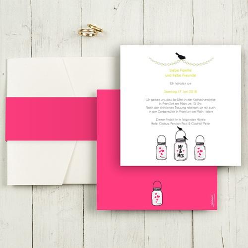 Hochzeitskarten Quadratisch - Motto Pink 50463